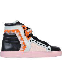 Sophia Webster - Women's Multicolor Leather Hi Top Sneakers - Lyst