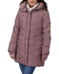 Steve Madden - Womens Winter Quilted Puffer Coat - Lyst