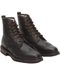Frye - Men's James Lug Wingtip Leather Boot - Lyst