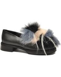 Greymer - Women's Black Leather Loafers - Lyst