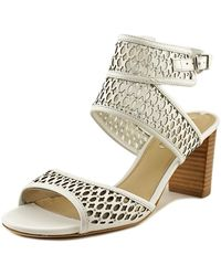 Via Spiga - Weslyn Women Open Toe Leather White Sandals - Lyst
