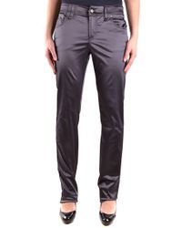 John Galliano - Women's Grey Viscose Pants - Lyst