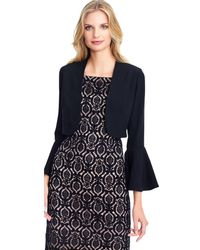 Adrianna Papell - Short Tailored Bolero Jacket With Bell Sleeves - Lyst