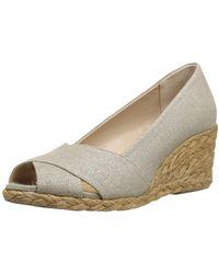 Adrienne Vittadini - Womens Bailee Peep Toe Wedge Court Shoes - Lyst
