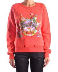 Frankie Morello - Women's Red Cotton Sweatshirt - Lyst