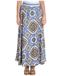 Altea - Women's Multicolour Silk Skirt - Lyst