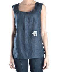 Gianfranco Ferré - Gianfranco Ferré Women's Black Linen Tank Top - Lyst