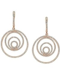 Suzy Levian - Rose Sterling Silver Cubic Zirconia Earrings - Lyst