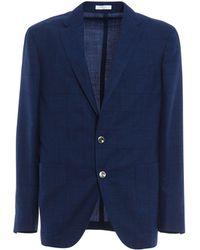 Boglioli - Men's Blue Wool Blazer - Lyst