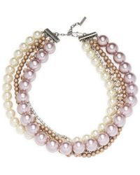 Marc By Marc Jacobs - Jewelry Multi Strand Pearl Statement - Lyst