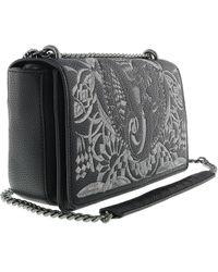 824b93826d Versace - Ee1vrbbr7 Black Shoulder Bag With Silk Thread Embroidery - Lyst