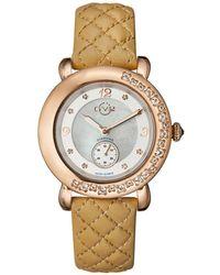 Gv2 - Marsala Women's Swiss Quartz White Leather Strap Watch - Lyst