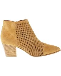 Janet & Janet - Janet& Women's 41250 Beige Suede Ankle Boots - Lyst