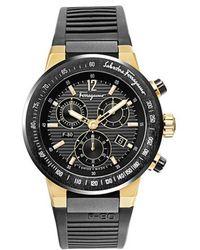 Ferragamo - F-80 Men's Black Rubber Strap Watch, Model: F55lcq759 - Lyst