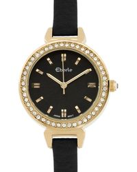 Eberle - Austonian Ladies Watch Genuine Leather Strap - Lyst