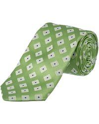Ike Behar - Green Summer Squares Silk Tie - Lyst