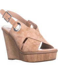 BCBGeneration - Penelope Open Toe Wedge Sandals, Sand - Lyst