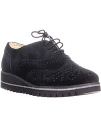 Marc Fisher - Rhino Lace Up Low Top Sneakers, Black - Lyst