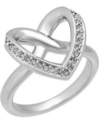Swarovski - Crystal Cupidon Plated Ring - Lyst