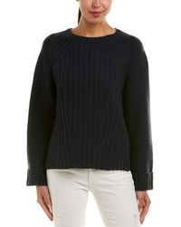 Vince - High-low Wool & Cashmere-blend Sweater - Lyst