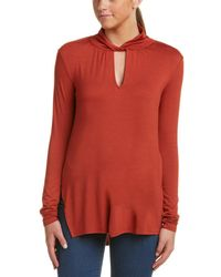 Ella Moss - Cut-out Turtleneck Top - Lyst
