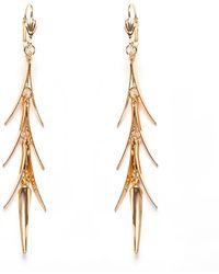 Peermont - Gold Spike Dangling Earrings - Lyst