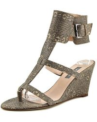 SJP by Sarah Jessica Parker - Festival Open Toe Synthetic Wedge Sandal - Lyst