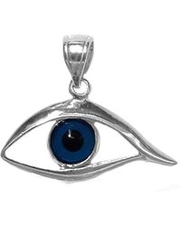 Jewelry Affairs - Sterling Silver Evil Eye Pendant - Lyst