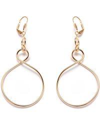 Peermont - Gold Figure 8 Drop Earrings - Lyst