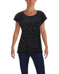 Eileen Fisher - Hand-beaded Silk Top - Lyst