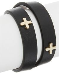Givenchy | Micro Cross Embossed Leather Choker | Lyst