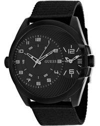 Guess - Movado Men's Black Nylon (u0680g1) Watch - Lyst