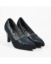"Calleen Cordero - 11 Nib Black Leather Pointed Toe ""mika"" Pumps Sz 6 - Lyst"