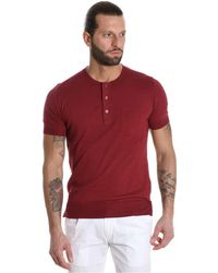 Paolo Pecora - Men's Red Cotton Polo Shirt - Lyst