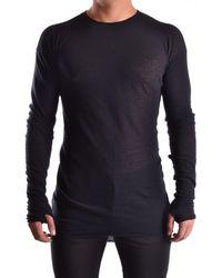 Isabel Benenato - Men's Black Cotton Sweater - Lyst