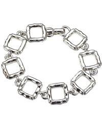 Jewelista - Sterling Silver Slim Quilted Bracelet - Lyst