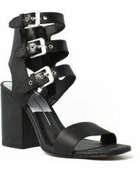 c527f76329a22e Dolce Vita - Womens Ella Black Ankle Strap Heels - Lyst