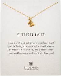 Dogeared - 14k Gold Over Silver Cherish Necklace - Lyst