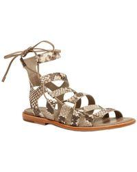 Frye - Blair Side Ghillie Leather Sandal - Lyst