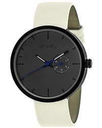 Simplify - The 3900 Charcoal Watch - Lyst