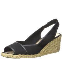 Ralph Lauren - Lauren By Womens Catrin Cotton Peep Toe Casual Espadrille Sandals - Lyst