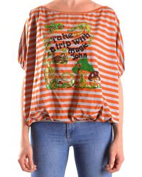 John Galliano - Women's Orange Cotton Top - Lyst