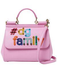 Dolce   Gabbana -  dg Family Medium Sicily Leather Satchel - Lyst 06bfc6037fb14