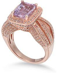 Suzy Levian - Sterling Silver 4.3 Tcw Purple Amethyst Ring - Lyst