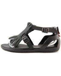 c06bb38da1d0 HUNTER - Womens Original Fringe T Bar Open Toe Casual Ankle Strap Sandals -  Lyst