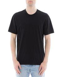 James Perse - Men's Black Cotton T-shirt - Lyst