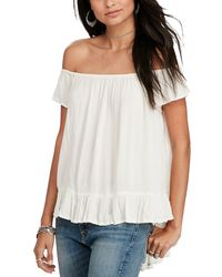 Denim & Supply Ralph Lauren - Crepe Off The Shoulder Top - Lyst