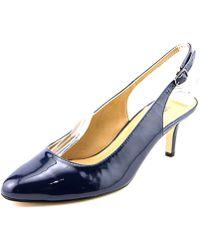 Vaneli - Luella W Pointed Toe Patent Leather Slingback Heel - Lyst
