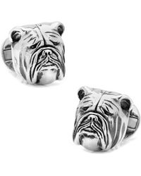 Ox and Bull Trading Co. - Sterling Silver 3d Bulldog Cufflinks - Lyst