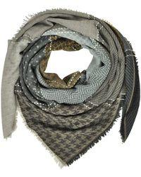 Marina D'este - Women's Grey Wool Scarf - Lyst